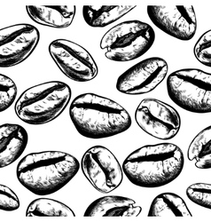 Hand drawn coffee beans set vector image vector image