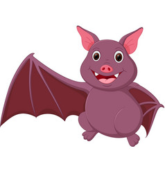 happy bat cartoon waving vector image vector image