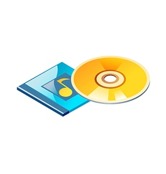 icon cd vector image vector image