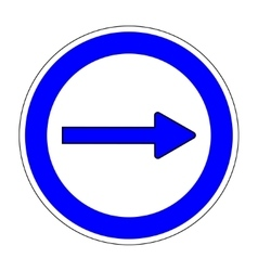Keep Right sign on white background 603 vector image