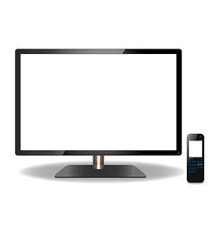 LED or LCD TV and Remote Touch screen- Design vector image vector image