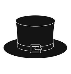 Leprechaun hat icon simple style vector