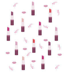 lipstick set collection pattern make up vector image