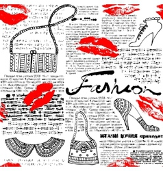 Newspaper pattern Fashion vector image vector image