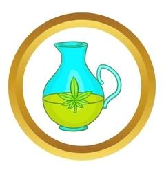 Organic hemp oil icon vector image vector image