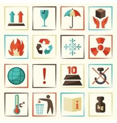 Packing symbols set vector