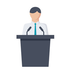 politician icon vector image vector image