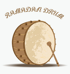 ramadan drum vector image