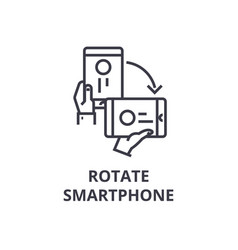 rotate smartphone line icon outline sign linear vector image vector image