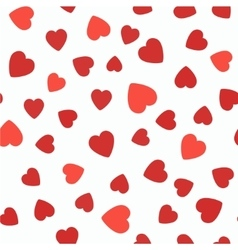 Seamless pattern with hearts Valentines Day vector image vector image