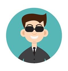 Secret service agent vector image