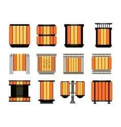 set of street bins vector image