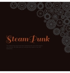 Steampunk style Template steampunk design for vector image