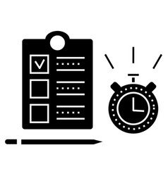time management icon sign o vector image vector image