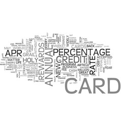 What is a apr credit card text word cloud concept vector
