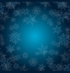 winter snowflakes background vector image