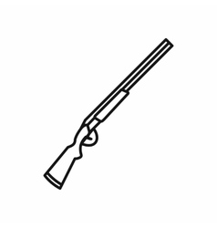 Hunting shotgun icon outline style vector