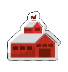 Stable farm isolated icon vector