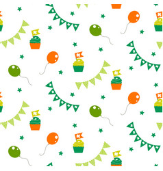 irish celebration party seamless pattern vector image
