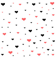 Valentines day card hearts background vector