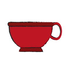 Cup silhouette draw vector