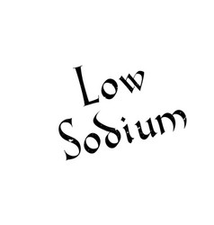 Low sodium rubber stamp vector