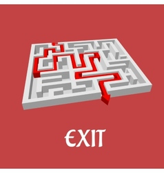 Labyrinth or maze puzzle vector