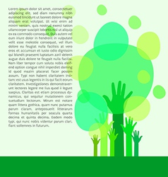 Go green concept save world vector