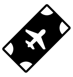 Boarding pass flat icon vector