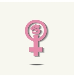 Pink feminism sign vector