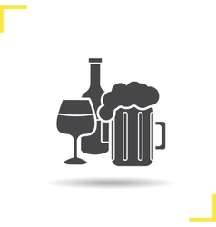 Alcohol icon vector