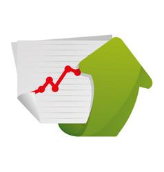 Arrow up increase vector