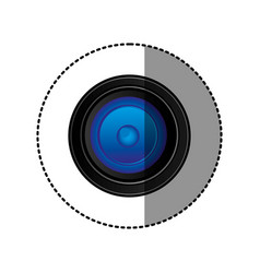 back camera lense icon vector image