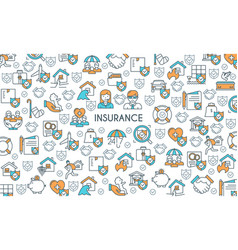 banner on theme insurance vector image vector image