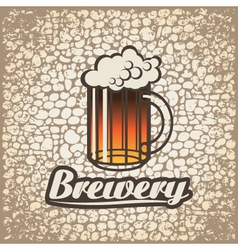 beer wall vector image