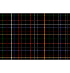 Black check fabric texture seamless background vector