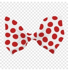 Cartoon bow red sign vector