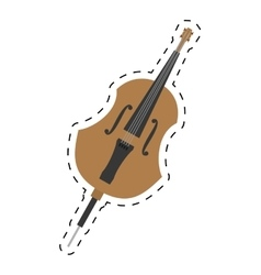 Cello orchestra classic music dotted line vector