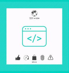 Code editor icon vector