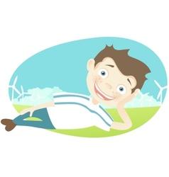 Cute Teenager vector image vector image