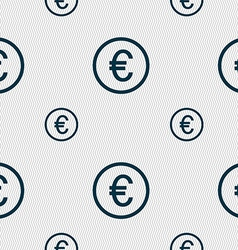 Euro icon sign Seamless pattern with geometric vector image