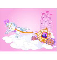 Fairy tale carriage vector