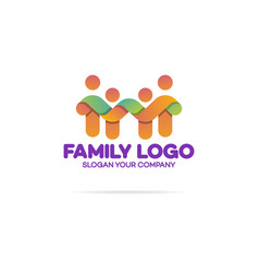family logo consisting of simple figures vector image