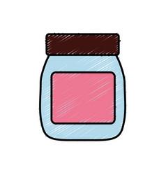 Food bottle icon vector
