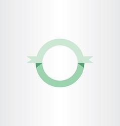 Green circle ribbon banner icon vector