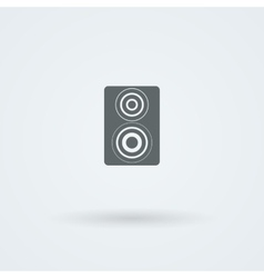 Icon of minimalist music speakers vector