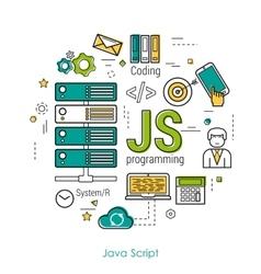 JS line art concept vector image