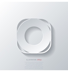 Lifebuoy web icon vector image