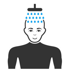 Man shower flat icon vector