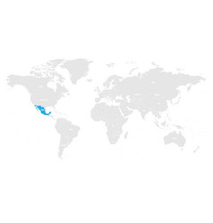 mexico marked by blue in grey world political map vector image